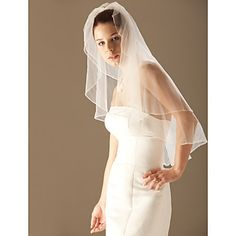 Two Layer Elbow Wedding Bridal Veil – US$ 18.99