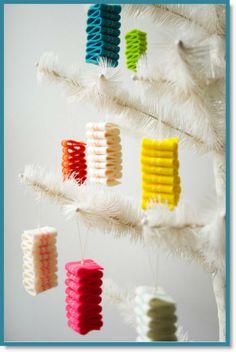 Molly's Sketchbook: Ribbon Candy Felt Ornaments & Garland