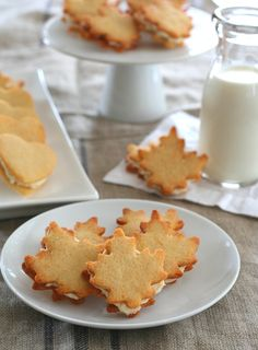 Gluten-Free Maple Sandwich Cookies - perfect for Canada Day!