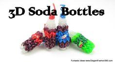 Rainbow Loom Pepsi Soda/water Drink 3D Charms - How to tutorial- Food Series tutorial by Elegant Fashion 360.