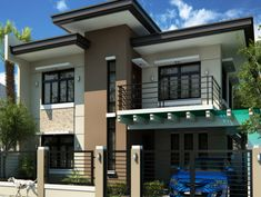 Alluring Modern Residential House Home Design Dream House Exterior, Exterior House Colors, Exterior Design, Modern Exterior, Simple House Design, Modern House Design, Modern Residential Architecture, Amazing Architecture, Philippines House Design