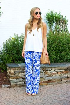 9a17c5d7f25 High-waisted palazzos and a tied-up tee... via Be my embrace Love ...