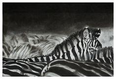 Animal series (charcoal drawings) by Kendall-Leigh Nash, via Behance