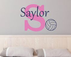 Personalized Name Soccer Wall Decal Sticker by StickyWallVinyl