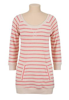 Striped pullover tunic with pocket (original price, $32) available at #Maurices