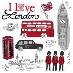 London Doodles Royalty Free Cliparts, Vectors, And Stock Illustration. Image 10937630.