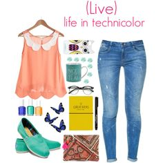 """""""(Live) life in technicolor"""" by looksmart-info on Polyvore"""