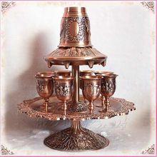 Rare 12 Pçs/set cobre antigo liga de zinco metal louça definir taça de vinho conjunto garrafa de vinho bebidas drinkware328B