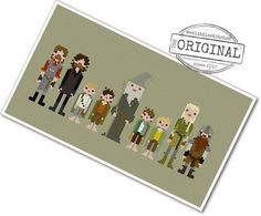 Pixel People - The Fellowship of the Ring - PDF Cross Stitch Pattern - INSTANT DOWNLOAD by weelittlestitches on Etsy
