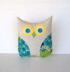 OWL of the MONTH decorative vintage home by whimsysweetwhimsy, $30.00