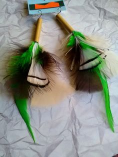Found on eBay! Come and make me your #BEST #OFFER!#freeshipping #blackwhite #feather #bamboo #GiftIdeas