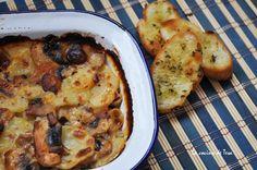 La cocina de Tesa: Gratinado de papas y champiñones