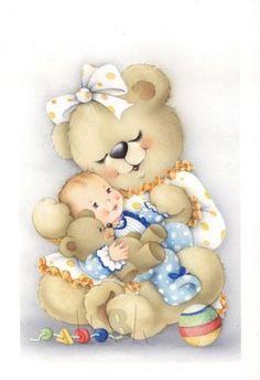 Teddy Bear mommy love.