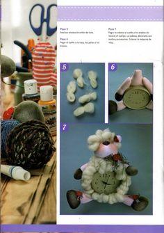 Eu Amo Artesanato: Relógio de ovelhinha com passo a passo e molde