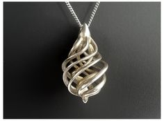 DNA Teardrop 3D printed pendant by GADesign. Price: $127.