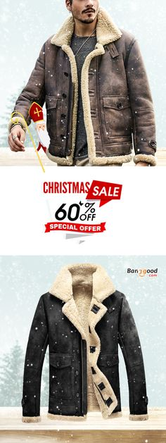 a539ce647dc Free Shipping   60% OFF ChArmkpR Mens Biker Jacket Big Pocket Thick Warm  Winter Shearling Faux Leather Coats