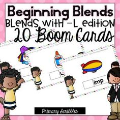 Are you 1:1? Are you looking for a fun way to practice the skill of beginning blends -L edition in your classroom? This online and interactive activity is perfect for the digital classroom. In this product, you get a link to a website. This activity contains 20 questions relating to the topic of beginning blends -L edition. Please check out the preview above to view four of the deck cards. Teaching Sight Words, Dolch Sight Words, Sight Word Activities, Interactive Activities, Teaching Math, Teaching Resources, Comprehension Strategies, Reading Comprehension, Reading Skills