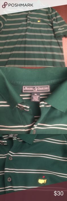 Men's US Masters Championship Polo Calling all golfers!! Fabulous condition, men's green classic polo. Your husband will want this polo!!! Masters Shirts Polos