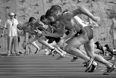 #athletes #athletics #black and white #competition #course #fitness #lane #monochrome #people #players #run #runners #running #running shoes #shoes #sports #sprint #start #track #training