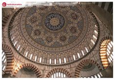 The interior decoration of Selimiye Mosque using #Izniktiles is considered an art form that remains unsurpassed  #TurkishCeramics #LandofCeramics