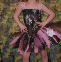 Camo Cutie OOC pageant wear with embroidery by MissPrissGlitzNGlam, $45.00