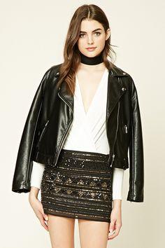 Geo Pattern Sequin Skirt