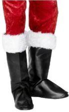 Santa boot covers.  Cubrebotas de Papa Noel.