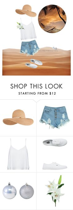 """""""seaside look"""" by cozywow-socks ❤ liked on Polyvore featuring Eugenia Kim, WithChic, Alice + Olivia, Vans, Laura Cole, look, seaside and leisure"""