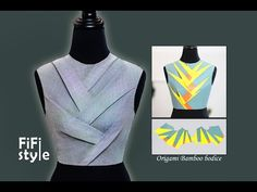 Paper-folding art, Origami, Japanese style, is applied to fashion industry, creating impressive and creative designs.FiFi will give you an easier look at it. Tailoring Techniques, Techniques Couture, Sewing Techniques, Bodice Pattern, Collar Pattern, Stephane Rolland, Yohji Yamamoto, Churidar Neck Designs, Origami Patterns