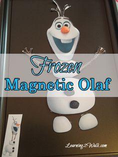 Preschool Lesson Plan: Build Magnetic Olaf