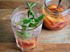 Homemade Ginger Peach Soda