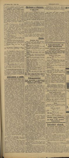 Národní listy, 10.6.1925 Old Hospital, Hospitals