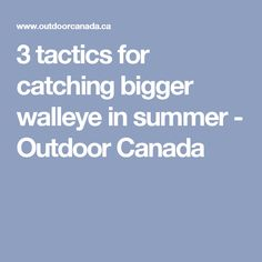 3 tactics for catching bigger walleye in summer - Outdoor Canada Walleye Fishing Tips, Pike Fishing, Best Fishing, Fly Fishing, Fishing Techniques, Big Fish, Summer Months, Canada, Facts