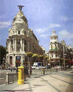 Las fachadas de Madrid bajo el prisma de hiperrealismo :: Ocio y cultura :: Arte y Diseño :: Periodista Digital, pintura de Agustin Gonzalez