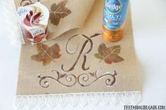 Let the craftiness of the holidays move you to make this DIY Monogrammed Fall Table Runner that will really make you Thanksgiving table pop! Funny Kid Halloween Costumes, Easy Homemade Halloween Costumes, Holiday Crafts For Kids, Holiday Fun, Fall Table, Thanksgiving Table, Project Yourself, Make It Yourself, Diy Monogram