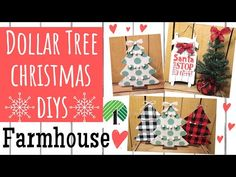 Today we are making Farmhouse Christmas decor using Dollar Tree supplies! It was so easy and fun! I tried making my own buffalo check and I LOVE. Dollar Tree Gifts, Dollar Tree Fall, Dollar Tree Decor, Dollar Tree Christmas, White Christmas, Christmas Crafts, Christmas 2019, Christmas Ideas, Merry Christmas