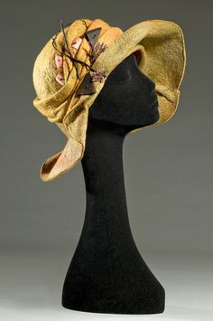 Felted yellow hat