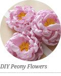 DIY Fabric Peony Flower Accessories + GiftToppers - Home - Creature Comforts - daily inspiration, style, diy projects + freebies