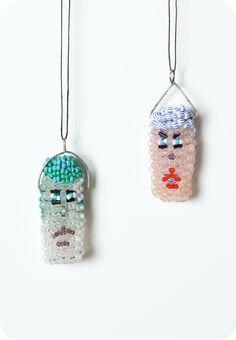 beaded face necklaces - kitt repass