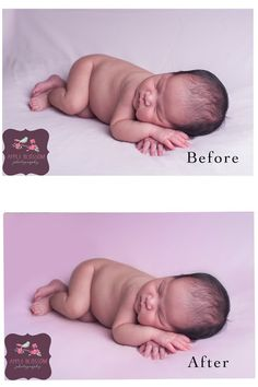 Before/After Newborn Photography Before and After Newborn Photography Apple Blossom Photography