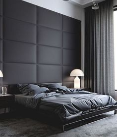 Panel wall and masculine aesthetic