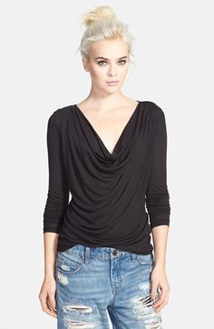 Tildon Drape Front Long Sleeve Top available at #Nordstrom