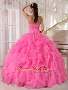 Inexpensive Rose Pink Quinceanera Dress Strapless Organza Beading Ball Gown  http://www.fashionos.com  Product Tags: floor length quinceanera dress | quinceanera dress with ball gown skirt | quinceanera dress with free shipping | quinceanera dress with ruffles | quinceanera dress in plus size | fitted quinceanera dress | quinceanera dress websites | rose pink quinceanera dress | rose pink quinceanera gown | beautiful quinceanera dress online | beaded quinceanera dress with applique