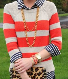 love these prints and patterns together. preppy and tacky at the same time. LOVE IT!