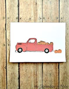 Pickup full of Pumpkins Free Fall Printable | my Someday in May