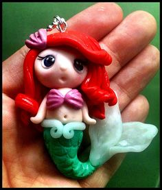 Polymer clay little mermaid