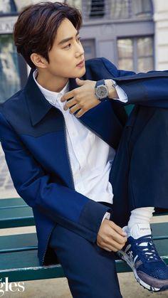 EXO Suho ~ Singles Magazine ☆ kpop korea korean Singles men Singlesmagazine magazine SinglesKorea fashion model handsome male k_magazinesSuho boy EXO EXOK SM 엑소 suho KimJunmyeon junmyeon 김준면 수호 Baekhyun Chanyeol, K Pop, Shinee, Kim Joon Myeon, Luhan And Kris, Happy Late Birthday, Exo Official, Xiuchen, Exo Ot12