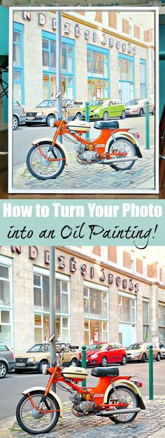 REALLY INTERESTING: How to turn your own photo into an oil painting - such a great way to commemorate a special occasion or turn a travel photo into a sentimental piece of art!