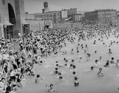 McCarren Pool, 1937. The renovated version is set to open this summer, June 28th.