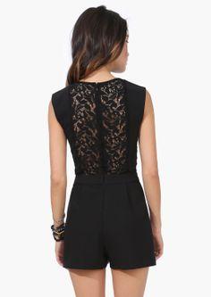 Lace Back Romper